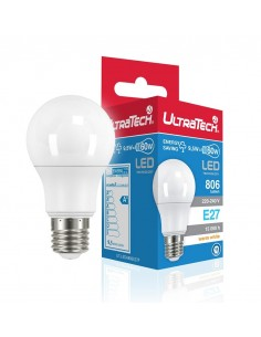 UltraTech  LED normál izzó E27   9.0W  806 lumen 2700K melegfehér  240°