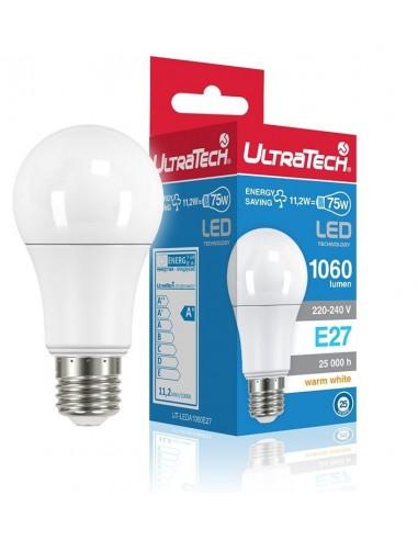UltraTech  LED normál izzó E27 11.0W 1060 lumen 2700K melegfehér