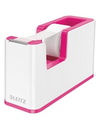 Ragasztószalag-adagoló asztali feltöltött LEITZ Wow rózsaszín