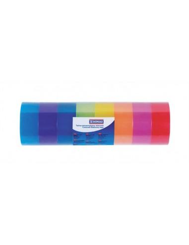 Ragasztószalag 18 mm x 18 m DONAU vegyes színek