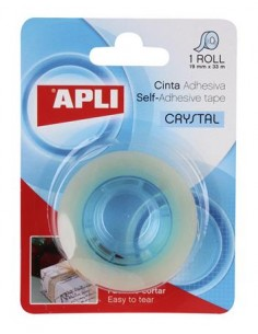 Ragasztószalag 19 mm x 33 m magasfényû APLI Crystal