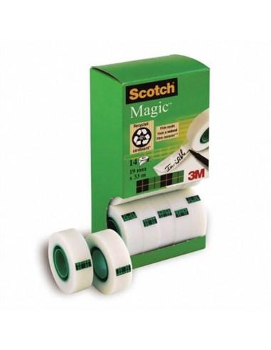 Ragasztószalag 2 db ajándék 19 mm x 33 m 3M SCOTCH Magic tape 810