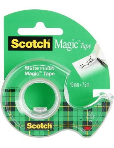 Ragasztószalag adagolón kézi 19 mm x 75 m 3M SCOTCH Magic Tape 810