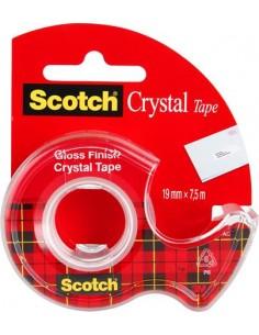 Ragasztószalag adagolón kézi 19 mm x 75 m 3M SCOTCH Crystal