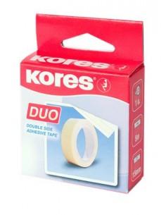 Ragasztószalag kétoldalas 15 mm x 5 m KORES Duo