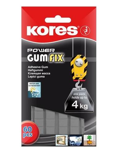 Gyurmaragasztó 60 kocka/csomag extra erõs KORES Power Gumfix