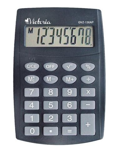 Zsebszámológép 8 számjegy VICTORIA GVZ-136AP