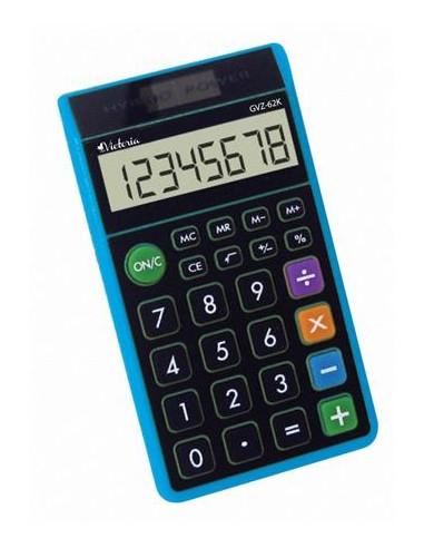 Zsebszámológép 8 számjegy környezetbarát VICTORIA GVZ-62K kék