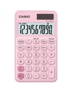 Zsebszámológép 10 számjegy CASIO SL 310K világos rózsaszín