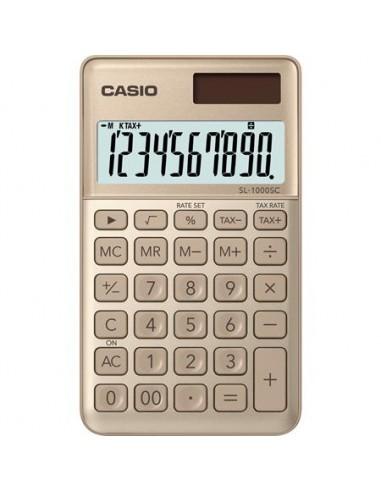 Zsebszámológép 10 számjegy CASIO SL 1000 arany