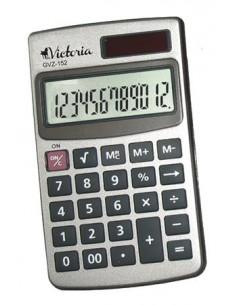 Zsebszámológép 12 számjegy fém ház VICTORIA GVZ-152