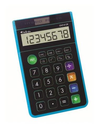 Számológép asztali 8 számjegy környezetbarát VICTORIA GVA-612K kék