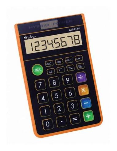 Számológép asztali 8 számjegy környezetbarát VICTORIA GVA-612N narancs
