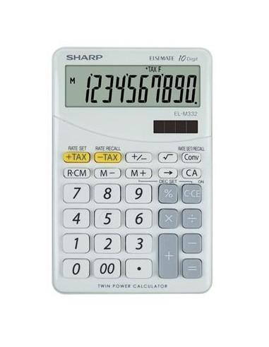 Számológép asztali 10 számjegy SHARP EL-M332 fehér