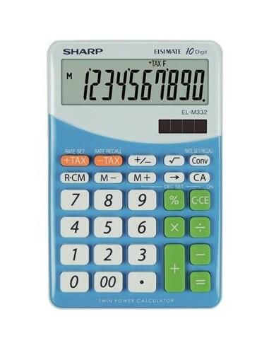 Számológép asztali 10 számjegy SHARP EL-M332 kék