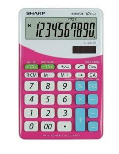 Számológép asztali 10 számjegy SHARP EL-M332 pink
