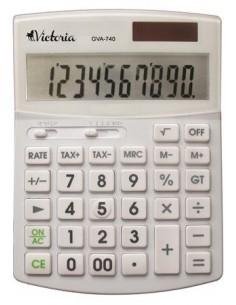 Számológép asztali 10 számjegy környezetbarát VICTORIA GVA-740 fehér