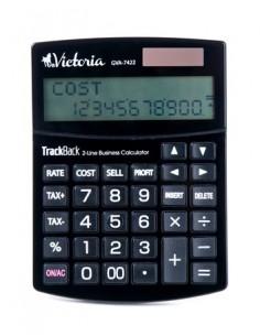 Számológép asztali 12 számjegy 2 soros  VICTORIA GVA-7422 fekete