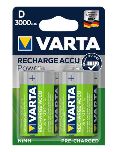 Tölthető elem D góliát 2x3000 mAh előtöltött VARTA Power