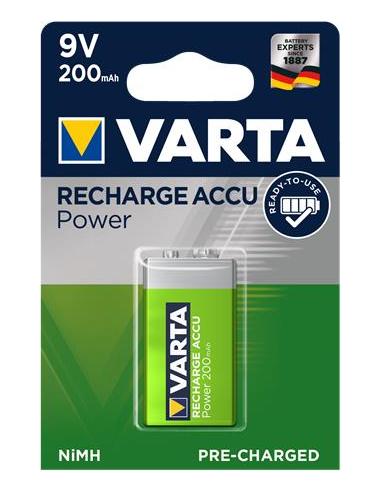 Tölthető elem 9V 1x200 mAh előtöltött VARTA Power