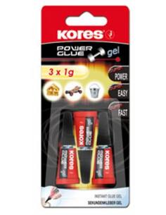 Pillanatragasztó gél 3x1 g KORES Power Glue Gel