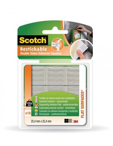 Ragasztó négyzetek kétoldalú szilikon újrafelhasználható 254x254 mm 3M SCOTCH
