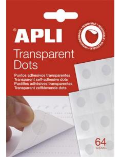 Ragasztókorong eltávolítható APLI Transparent Dots átlátszó