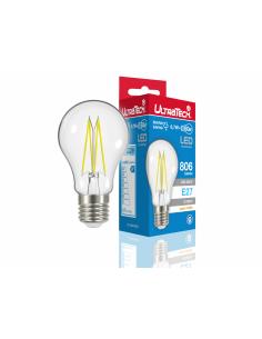 UltraTech  LED filament normál izzó E27  6 W 806 lumen 2700K melegfehér