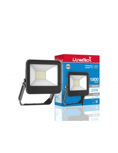 UltraTech  LED reflektor 20Watt 4000K hidegfehér 1800 lumen 25000 óra LEDFL1800BK