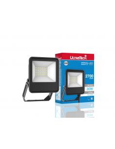 UltraTech  LED reflektor 30Watt 4000K hidegfehér 2700 lumen 25000 óra LEDFL2700BK
